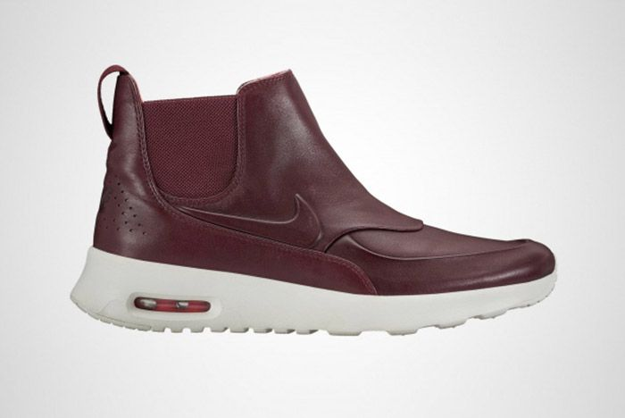 Nike Womens Air Max Thea Mid Top Boot Burgundy