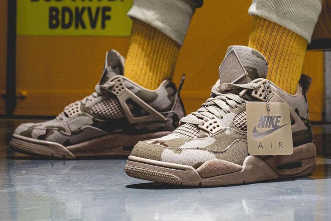 Aleali May x Air Jordan 4 'Veterans Day' PE on foot
