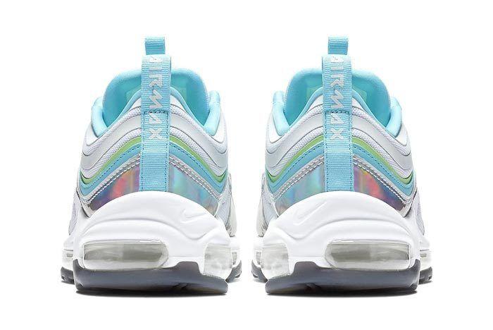 Iridescent Silver Nike Air Max 97 Heels