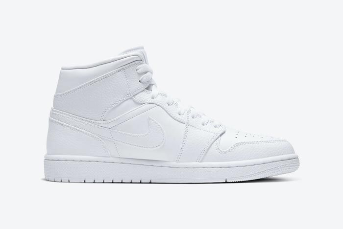 Air Jordan 1 Mid Triple White Medial