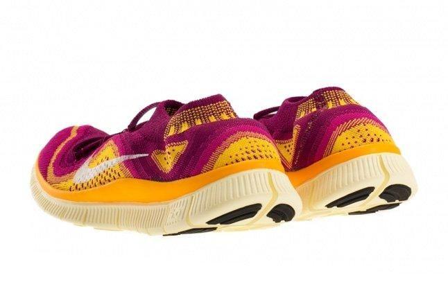 Nike Free Flyknit Free Berry Laser Orange 4
