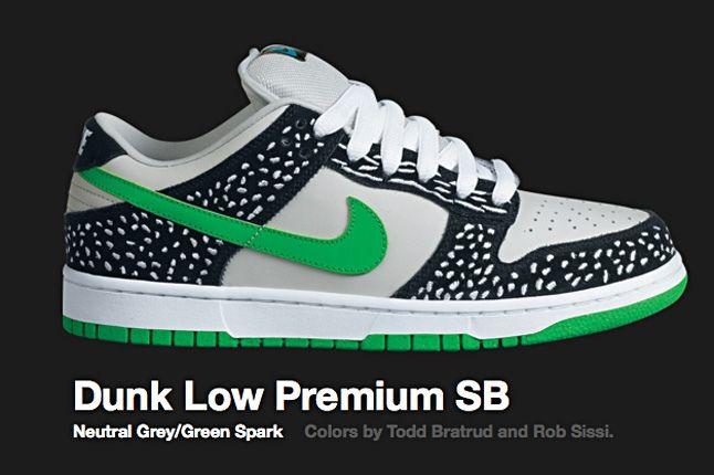 Nike Green Spark Dunk Low Sb 2010 1