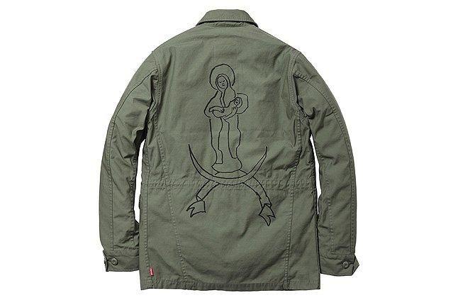 M51 Jacket Army Green Back Logo 1