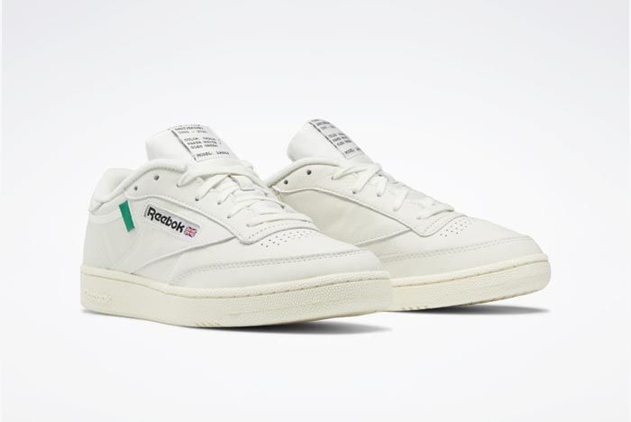 Reebok Club C 85 Chalk Classic White Glen Green Pair