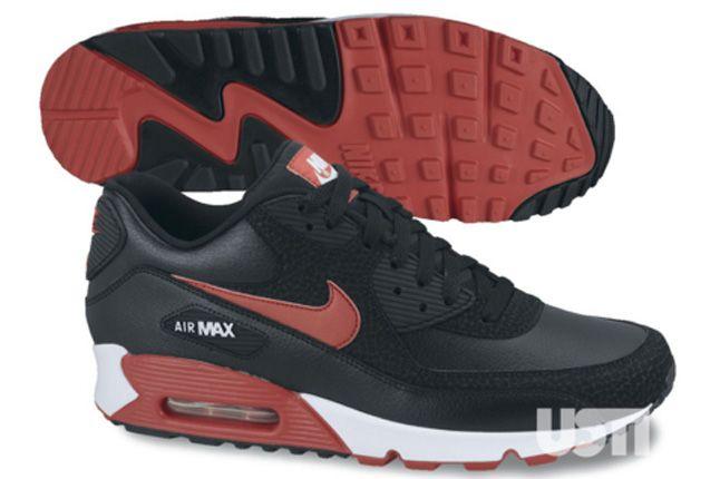 Nike Air Max 90 2013 Essential Black Red 1