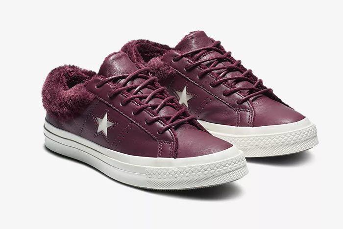 Converse One Star Fur Burgundy 2