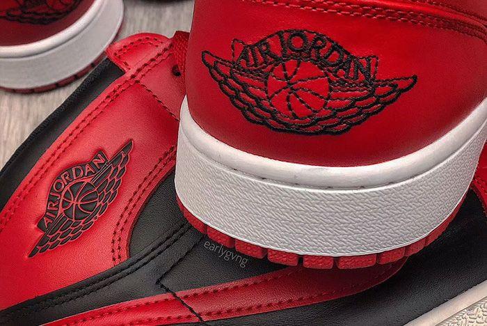 Air Jordan 1 Low Varsity Red Up Close Shot 8
