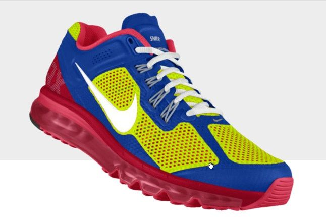 Nikeid Air Max Blue Pink Profile 1