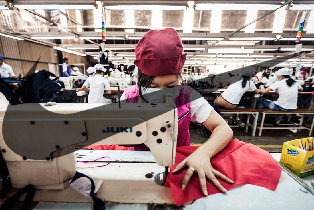 vietnam factory worker