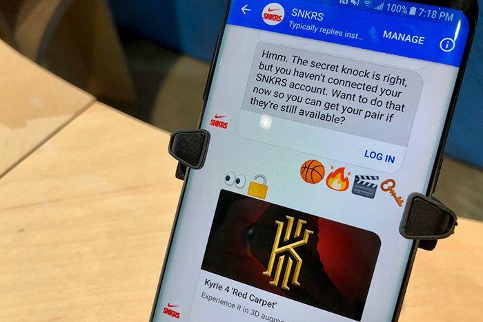 Nike Snkrs Facebook Messenger 5