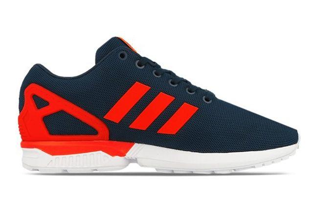 Adidas Originals Zx Flux Dark Blue Solar Red 5