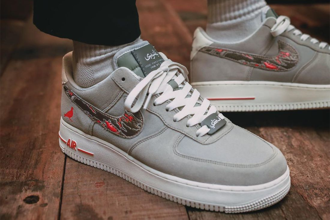 Jeff Staples Sbtg Nike Air Force 1 Pigeon Fury Toe