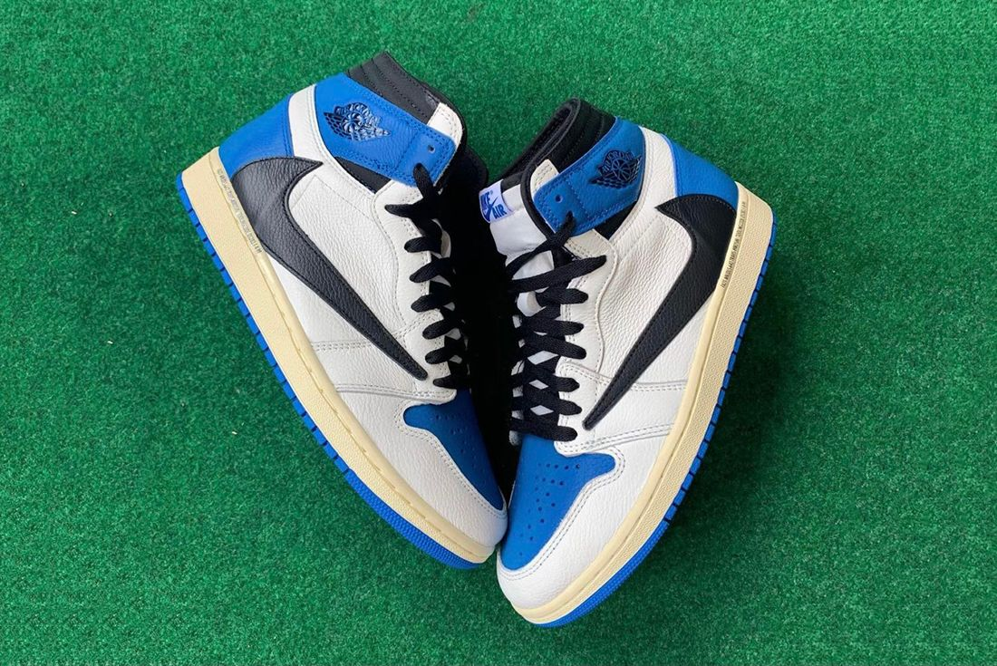 Travis Scott x Fragment x Air Jordan 1 leaked shots