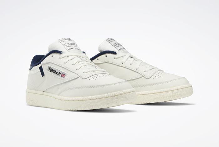 Reebok Club C 85 Chalk Classic White Collegiate Navy Pair