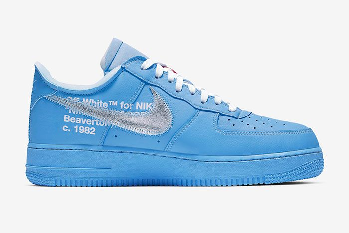 Off White Nike Air Force 1 Mca Right