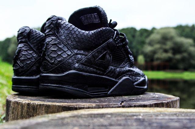Mc Maggi Custom Air Jordan 4 Black Python Heels