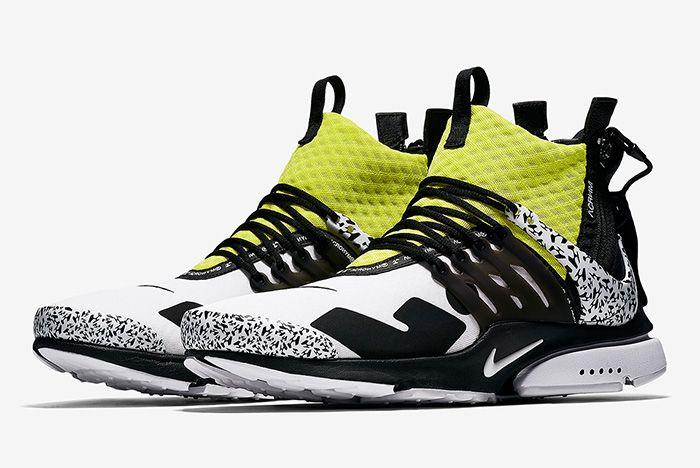 Acronym Nike Air Presto Mid Dynamic Yellow Cool Grey 1