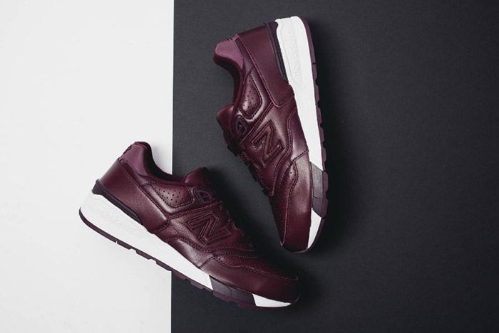 New Balance 597 Burgundy Leather 5
