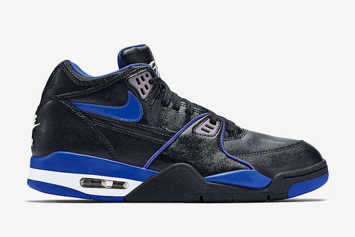 Nike Air Flight 89 Black Royal Blue 819665 001 Lateral