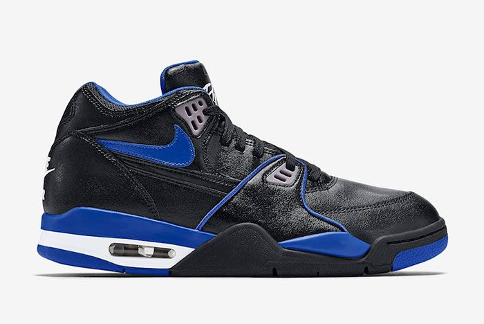 Nike Air Flight 89 Black Royal Blue 819665 001 Lateral