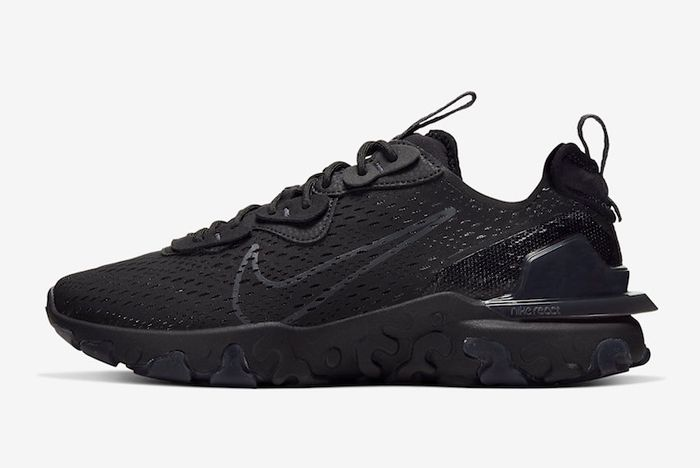 Nike React Vision Black Anthracite Lateral Side