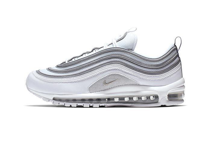 Nike Air Max 97 White Metallic Silver Lateral