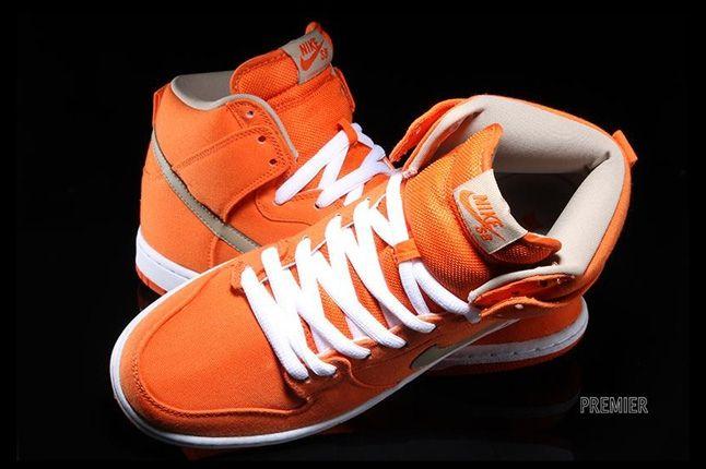 Nikesb Dunk High Pro Orange Bamboo Aerial Hero 1