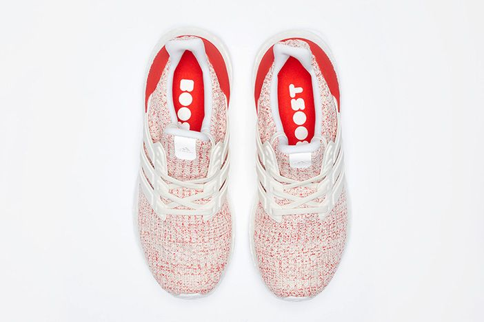 Adidas Ultraboost 4 0 W White Red 3