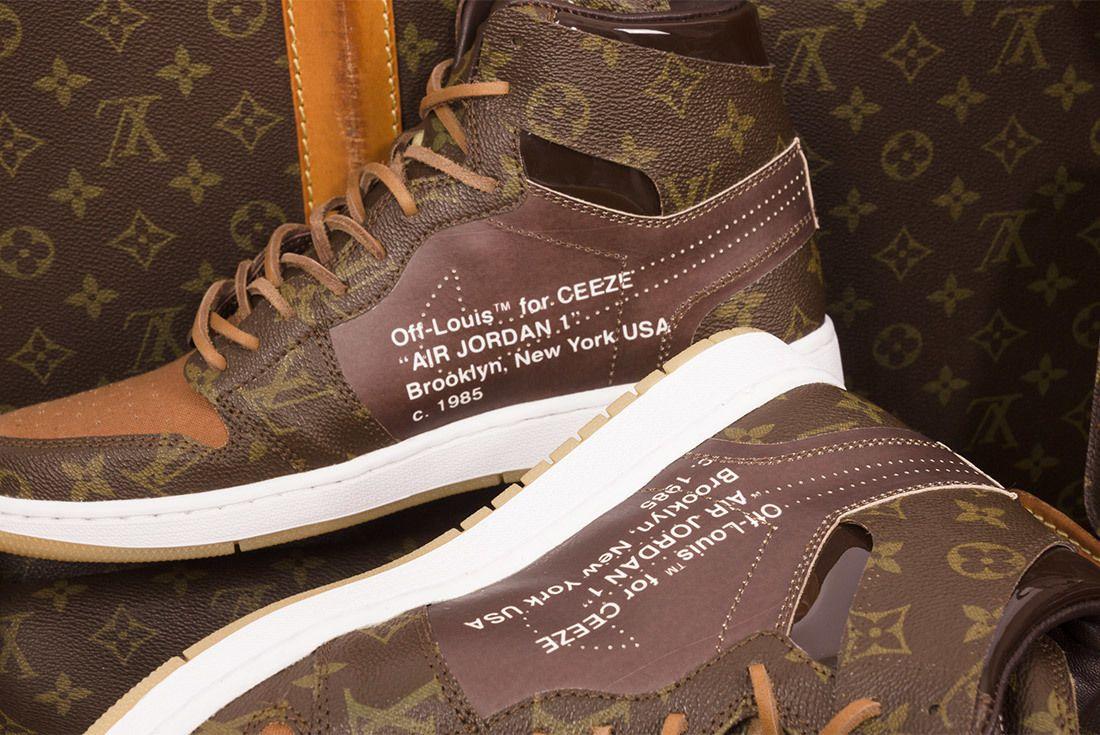 Off White X Louis Vuitton Off Louis Air Jordan 1 Custom 13
