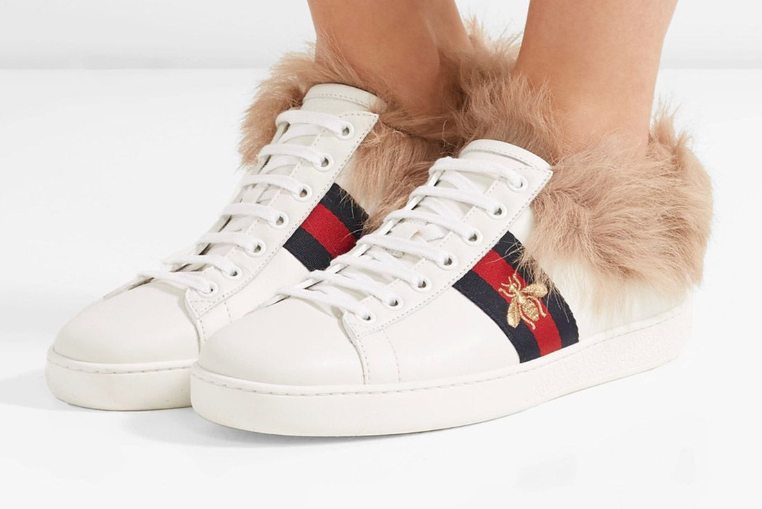 Gucci Ace Sneaker With Lamb Fur Sneaker Freaker 4