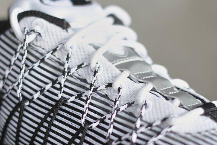 Nike Air Max 95 Ultra Jacquard Pinstripe Black White 5