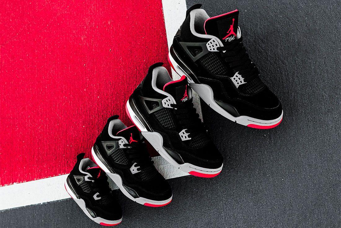 Air Jordan 4 Bred Jd Sports Family Sizes7
