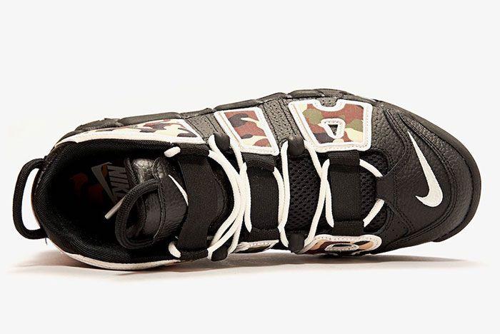 Nike Air More Uptempo Black Camo Above