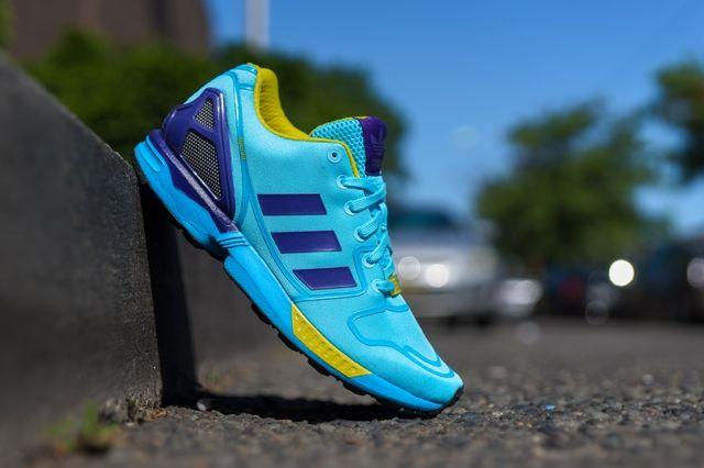 Adidas Originals Zx Flux Techfit Og Aqua 6