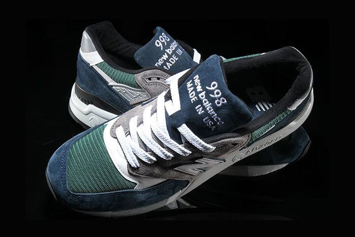 New Balance 998 Navy Green 1