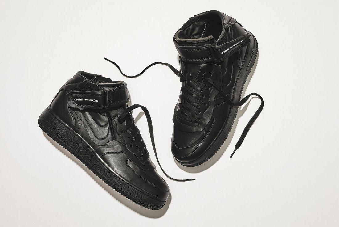 Comme des Garcons Nike Air Force 1 Mid Black