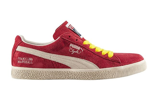 Puma Clyde X Franklin Marshall Red Profile 1