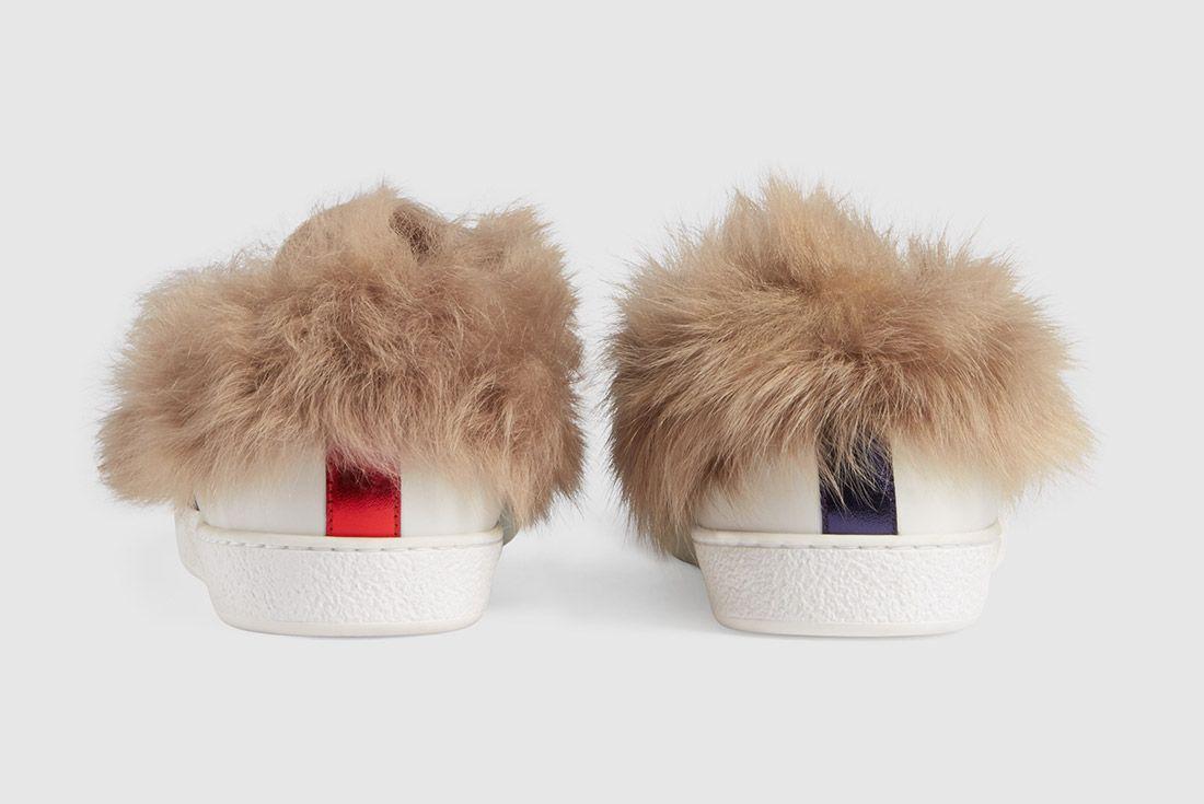 Gucci Ace Sneaker With Lamb Fur Sneaker Freaker 6