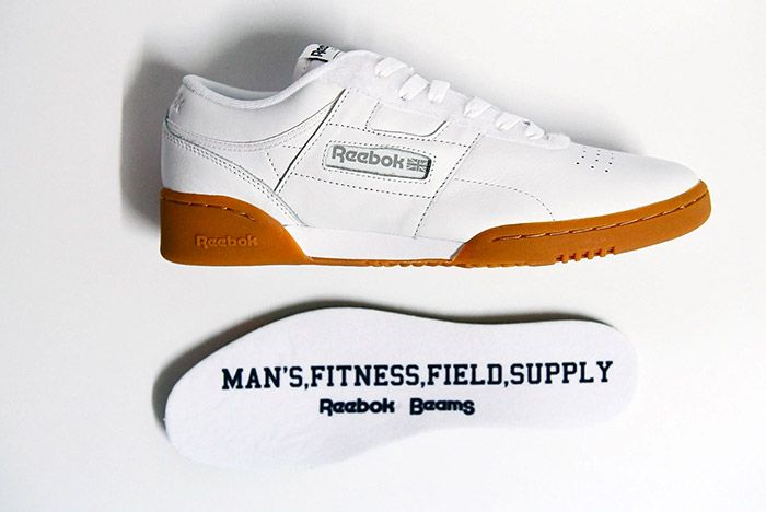 Beams Reebok Workout Low White 1