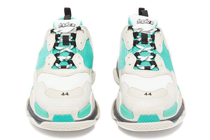 Balenciaga Triple S Lowtop White Grey Turquoise Release 13 Front