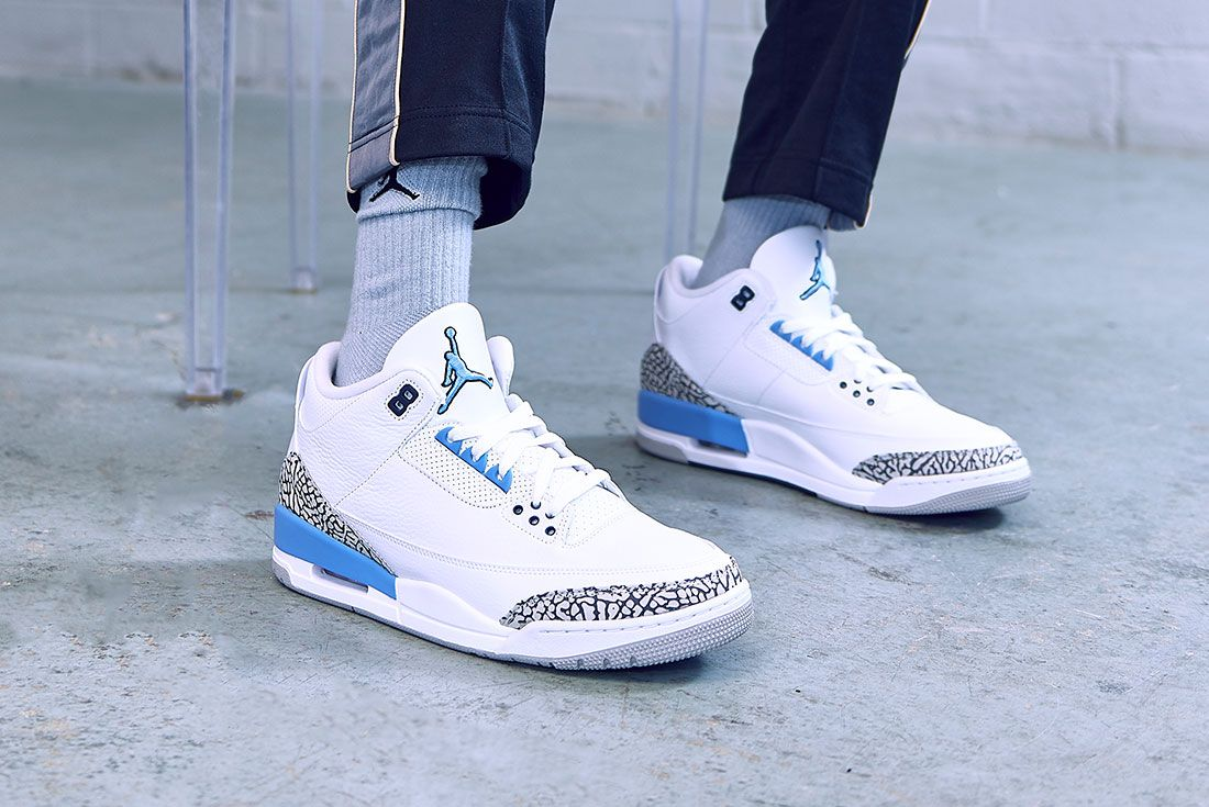 Air Jordan 3 Unc On Foot Jd Sports 1