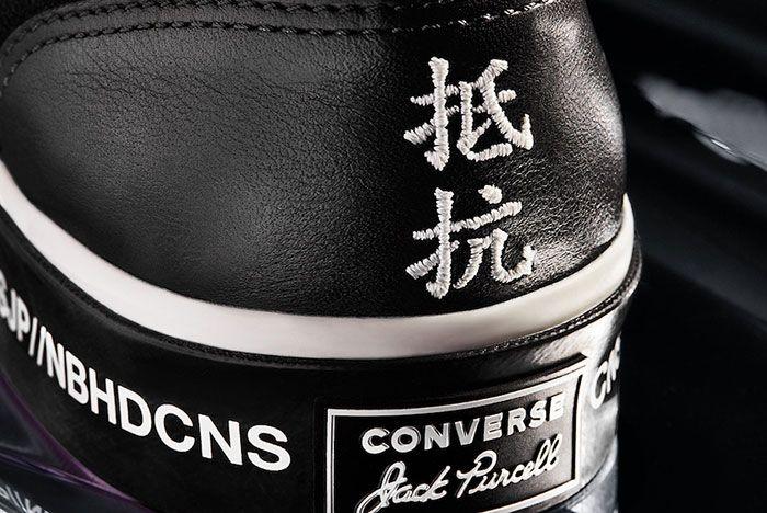 Neighborhood Converse Jack Purcell Black Heel Details