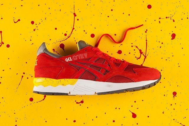Asics Gel Lyte V Fiery Red Yellow 3