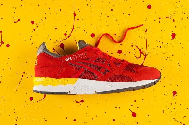 Asics Gel Lyte V Fiery Red Yellow 3