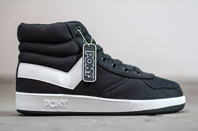 Pony Slam Dunk Hi Canvas Blk Sideview