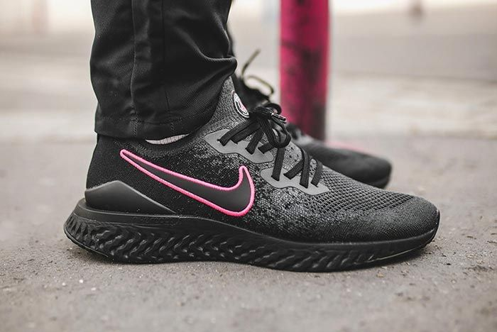 Paris Saint Germain Nike Epic React Flyknit 2 Black Right Side Shot