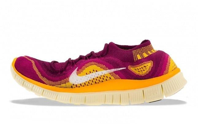 Nike Free Flyknit Free Berry Laser Orange 1
