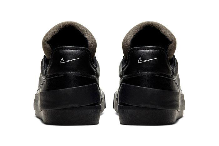Nike Drop Type Lx Triple Black Cn6916 001 Release Date Heel