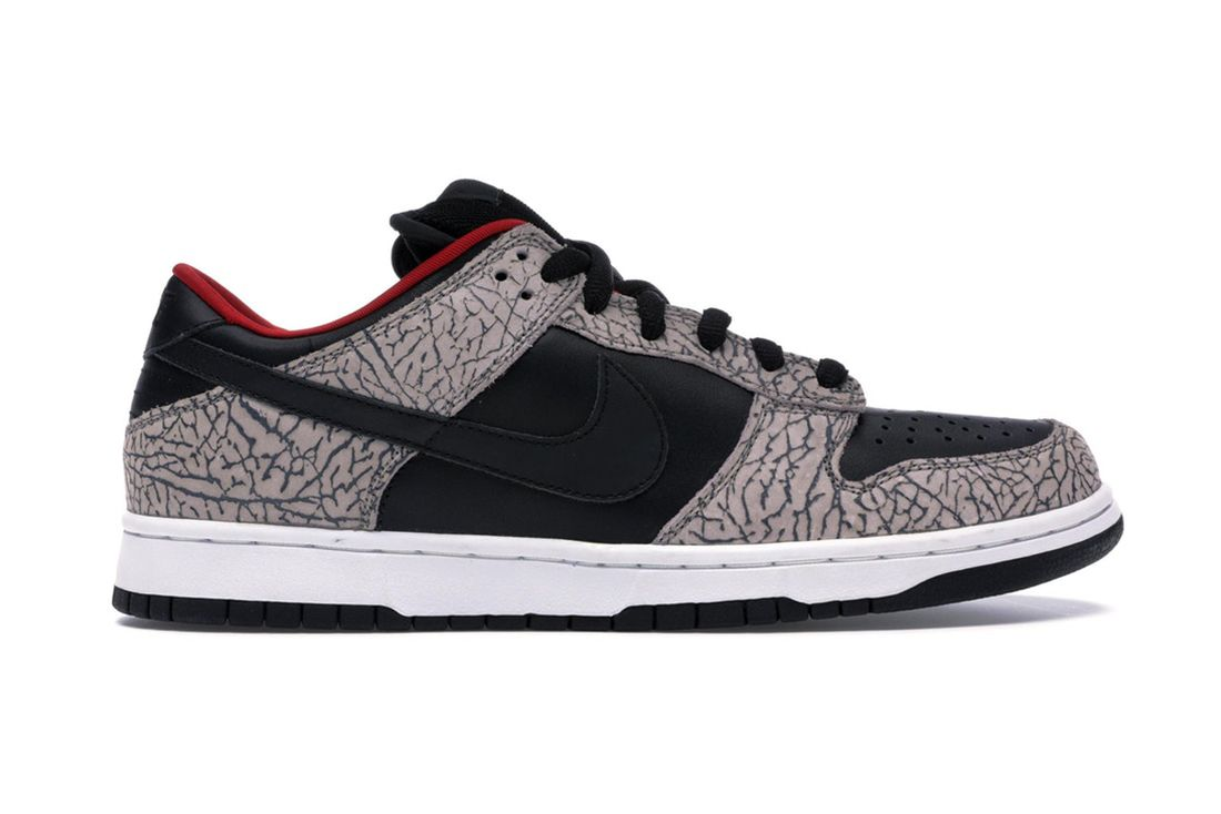 Supreme Nike Sb Dunk Low Black Cement 304292 131 Lateral