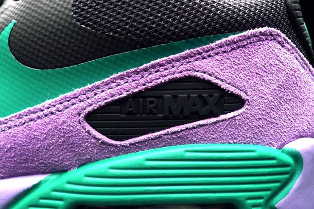 Nike Air Max 90 Premium Black Grape Teal Detail 1